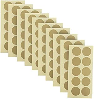 100-Pack of 1 Inch Gold Scratch Off Stickers. The Decals are Perfect for Any Personalized Paper Projects Such as DIY Baby Gender Reveal Cards, Bridal Showers, Kid Charts, Announcements (Gold)