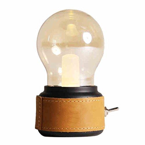 Veilleuses Lampes et éclairage Portable Mini rétro Bar veilleuse Rechargeable LED Lampes à économie d'énergie Creative Ampoule de Bureau