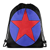 LREFON Mochila Saco Estrella de Sangre Logo-Mochila Saco-Negro