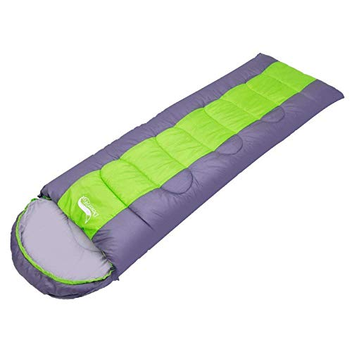 BABY Sac de Couchage extérieur Ultra léger, Camping élargi, Pause déjeuner, Camping, Sac de Couchage, Printemps et Automne Hiver (Color : Green)