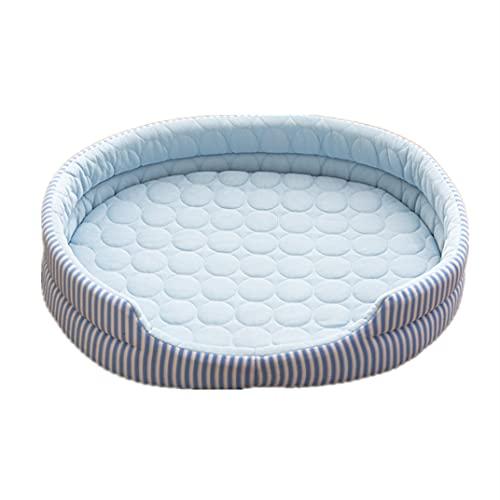 Fesky Estera de la cama del cachorro de la seda del hielo con la almohada, cueva del perro de la protección de la columna vertebral del hielo Lolly Deisgn