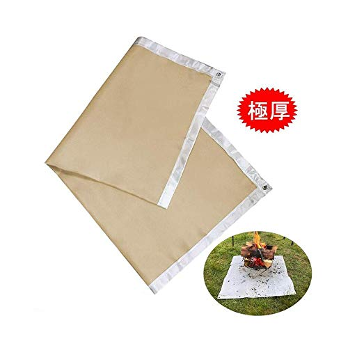 Wancheng Campfire Bracket Board, Fire Board, Fire Splash Board, Welding Board, Fire Retardant, Barbecue Lawn Protection 100 * 80cm Instant Fire Temperature 1500 Degrees Wood Stove With Holes