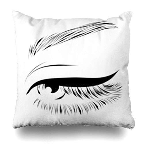 Belle Eye Long Cils Extension de Cils Abstrait Paupière Noir Fermer Cosmétique Cils Sourcils Taille 18x18 Pouces