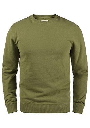 Blend Darian Herren Sweatshirt Pullover Pulli Mit Rundhalsausschnitt Und Fleece-Innenseite, Größe:L, Farbe:Martini Olive (77238)