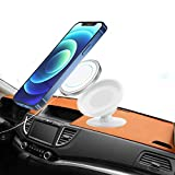 for Magsafe Car Mount, Stand for Apple Magsafe Charger, Sticky Magnetic car Electronics Accessories Holder for mag Safe, Compatible with iPhone 12, 12 Mini,12 Pro,12 Pro Max(Charger Not Included)