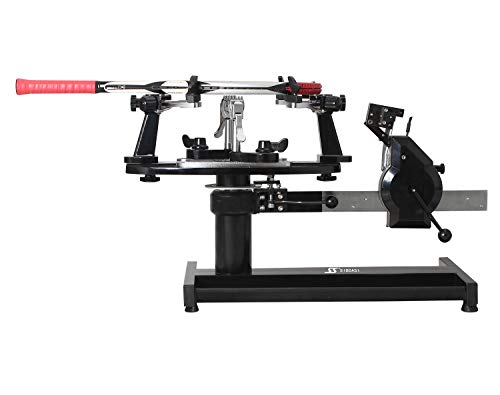 SIBOASI Tennis Stringing Machine Badminton Racket String Machine Portable Stringer Racquetball Stringing Tabletop Machine with Free Stringing Tools and Accessories Sports S223