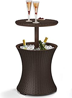 Keter 7.5-Gal Cool Bar Rattan Style Outdoor Patio Pool...
