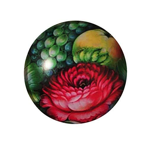 Hongma Aimant R/éfrig/érateur Cabochon Peinture de Fleur Arbre de Vie Sticker Frigo Magn/étique