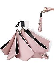 超軽量 216g 日傘 ワンタッチ 自動開閉 折りたたみ傘 レディース 晴雨兼用 折り畳み日傘 uvカット 100 遮光 超撥水 耐強風 携帯しやすい 収納ポーチ付き ピンク