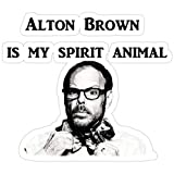 Jess-Sha Store 3 PCs Stickers Alton Brown is My Spirit Animal, Alton Brown Food Network Star Good eats Chef Sticker for Laptop, Phone, Cars, Vinyl Funny Stickers Decal for Laptops, Guitar, Fridge