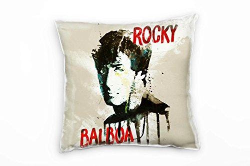 Paul Sinus Art Rocky Balboa Deko Kissen mit Füllung 40x40cm für Couch Sofa Lounge Zierkissen - Dekoration zum Wohlfühlen