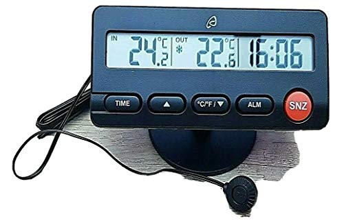Termómetro digital digital con termómetro (-50 °C + 70 °C, sensor 1,9 m)