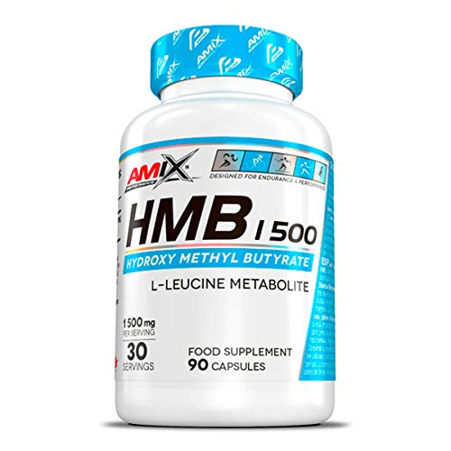 Amix - Performance HMB 1500 - Suplemento Alimenticio - Disminuye la Pérdida de Masa Muscular - Mejora la Recuperación - Para Deportes de Resistencia - Nutrición Deportiva - Contiene 90 Cápsulas