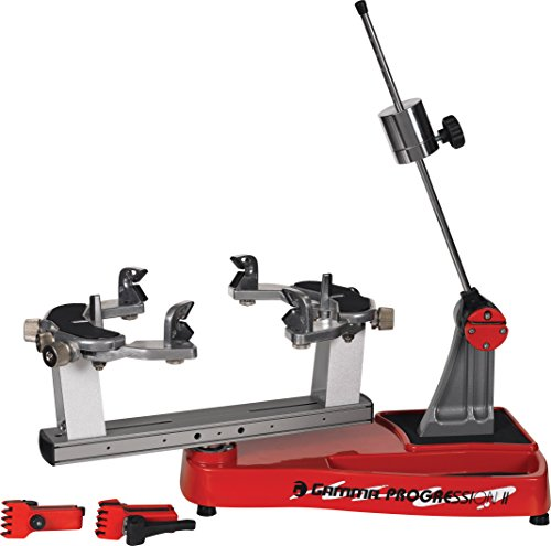 Gamma Progression II 602 Machine: 360 Degree Rotation Tabletop Racquet Stringer Machines with Stringing Accessories / Racket String Tools - Strings Racquetball, Squash, Tennis or Badminton Equipment