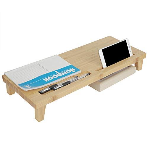 Elevador de escritorio, soporte de monitor multifunción Experiencia de visualización ergonómica para sala de estar para oficina(color primario, azul)