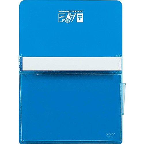 コクヨ ホワイトボード マグネットポケット 約165枚 B5用紙 青 マク-501NB 【まとめ買い3個セット】