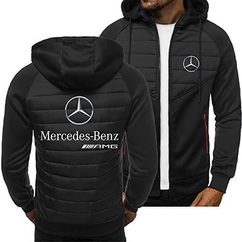 SPONSOKT Hoodies Jacke Mercedes-Benz Amg Drucken Beiläufig Strickjacke Dünn Herren Jungs Jugend Sweatshirt Klassisch/Schwarz/L