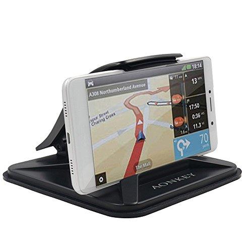 AONKEY Handyhalter für Auto, Armaturenbrett Auto Halterungen für iPhone XS X 8 7 6 6S Plus, rutschfeste GPS-Halter Auto Wiegen für Galaxy Note 9 S9 S8 Plus und 3-7 Zoll Smartphones