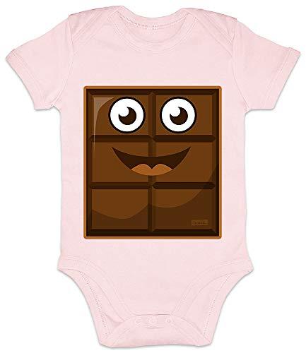 Hariz - Body de manga corta para bebé con leche y chocolate, disfraz de carnaval, incluye tarjetas de regalo de algodón de azúcar rosa de 12 a 18 meses