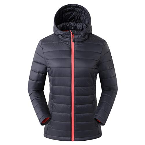 Amazon Marke: Eono Essentials Damen Thermo-Steppjacke, Schwarz, XL