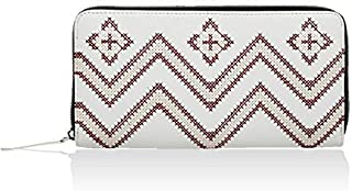 Monokrome new york CHEVRON EMBROIDERED ZIP AROUND LARGE WOMENS WALLET