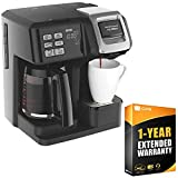 Hamilton Beach 49976 FlexBrew 2-Way Brewer Programmable Coffee Maker - Black (Renewed) with Care Extension