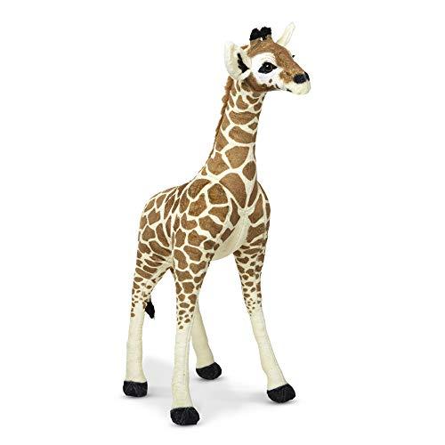 Melissa amp Doug Lifelike Plush Standing Baby Giraffe Stuffed Animal – 3 Feet Tall