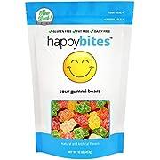 Happy Bites Sour Gummi Bears - Gluten Free, Fat Free, Dairy Free - Resealable Pouch (1 Pound)