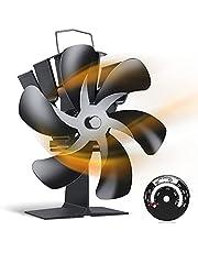OCHOR ストーブファン エコファン 火力熱炉ファン 6つブレード 静音 省エネ 空気循環 暖炉 自動 薪ストーブ/暖炉用品 暖房用 防寒対策