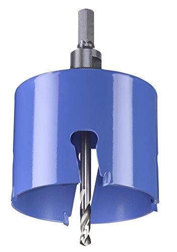 kwb Universal-Lochsäge – 85 mm Durchmesser-Größe, extra scharfe Zähne aus Hartmetall, 8 mm Zentrierbohrer