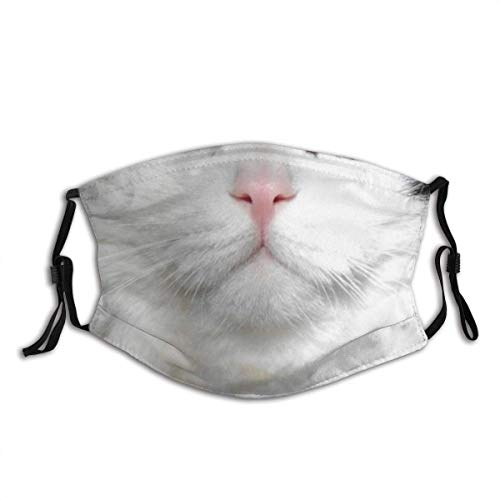 Cat Dog Design Mouth Protection Mask Balaclava Unisex Windproof and Dustproof Mouth Mask,Face Cover with Adjustable Elastic Strap