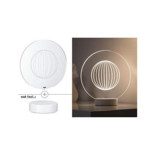 Paulmann 795.31 Yarn 3D Tischleuchte Acryl/Klar 79531 Dekolicht indirekte Beleuchtung Stimmungslicht Nachtlicht