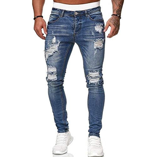 ShZyywrl Pernera Recta Pernera Regular Pantalones De Mezclilla De Trabajo De Corte Regular Skinny Slim Fit Pantalones De Chándal para Hombre, Pantalones Vaqueros Rasgados Sexis, Pantalones