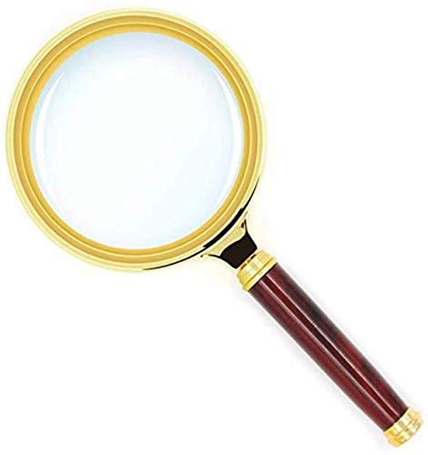 手持ちルーペ 拡大鏡 高級感 5-10倍拡大 木製手持ち虫眼鏡 携帯便利 地図 雑誌 新聞 読書用 子ども、高齢者及び専門家使用可能