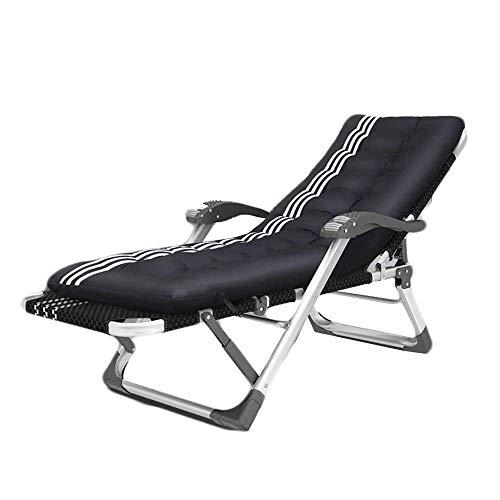 LLSS Silla reclinable para Exteriores, sillón reclinable Ajustable para terraza, jardín, Playa, Piscina