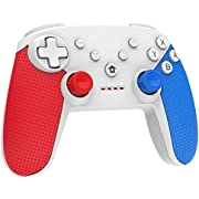 Nintendo Switch Controller, Wireless Controller für Nintendo Switch, Switch Pro Controller Gamepad mit Double Shock und Turbo Funktion Eingebaut Six-axis Gyro