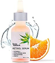 InstaNatural Retinol Serum - Anti Wrinkle Anti Aging Facial Serum - Helps Reduce Appearance of Puffiness, Wrinkles, Crows Feet & Fine Lines - with Vitamin C & Hyaluronic Acid - InstaNatural -  1 oz