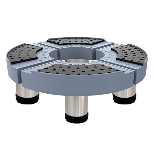 XQKQ Base de Tambor para electrodomésticos Circular Soporte de Base de Lavadora Ajustable Multifuncional 37-50cm para Deslizadores de Secadora de Ropa y refrigerador (Color: Azul) Botas de esquí