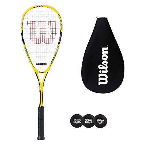 Wilson Ripper Team - Raqueta de squash con cubierta y 3 pelotas de squash