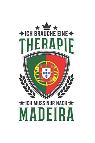 Madeira Reise Notizbuch: Madeira Portugal Urlaub Reise Geschenk / 6x9 Zoll / 120 karierte Seiten