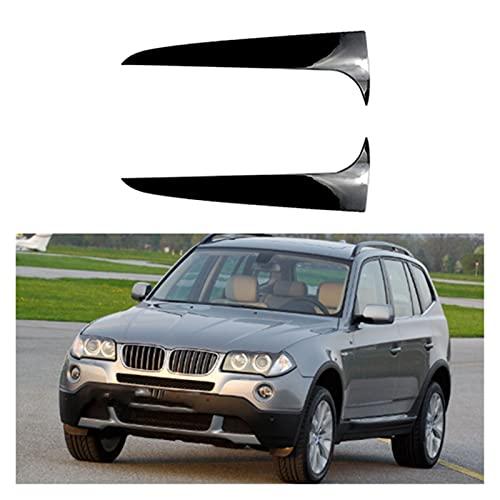 LIFMAGIC 후면 뒤에 창의 스포일러면 지구 덮개를 다듬에 맞는 BMW X3F25 2011-2017 외관 수리 키트(이름의 색상:검정)