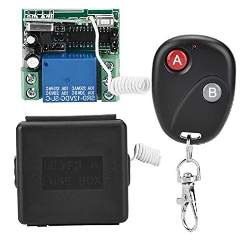Interruptor teledirigido de baja potencia de alta calidad con relé RF inalámbrico, para oficina, para el hogar(3 remote controls)