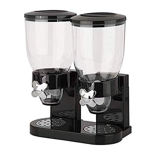 Dispensador de Cereales Dispensador Negro Copos de Maíz Cereal de Desayuno Dispensadores de Copos de Maíz Electrodomésticos de Cocina, Adornos Decorativos