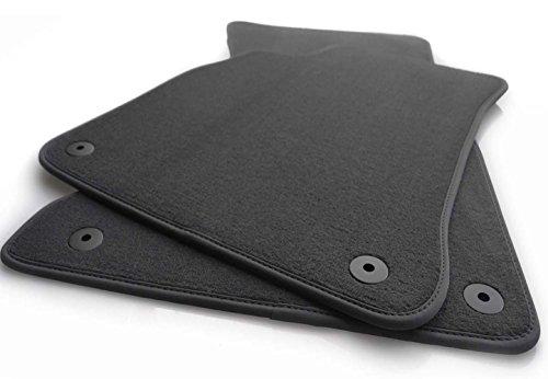 kh Teile A4 (B6/B7) alle Modelle Alfombra de Terciopelo de Calidad, Parte Delantera, Color Negro, 2 Piezas