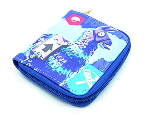 Portefeuille anime loot saison, portefeuille de jeux vidéo porte-monnaie et porte-cartes pour gamers en ligne pour PC/PS4. Organiseur de pièces Flamme
