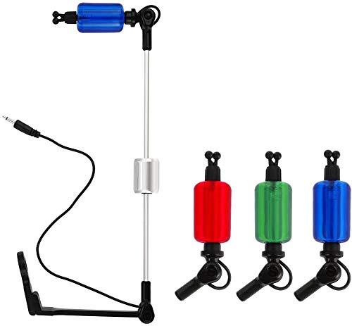 Mounchain Bissanzeiger Angeln Swinger Mit 3 LED-Beleuchtet und Alarmsystem - 3er Pack