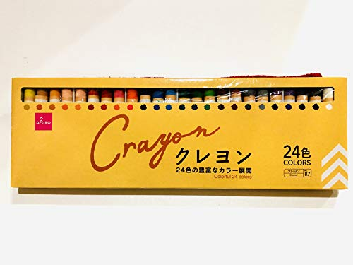 Crayon Colorful 24 Colors, Oil Crayons,Daiso Japan