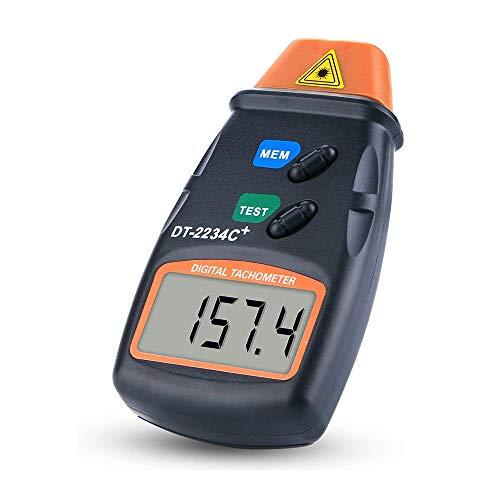 IWILCS Professioneller Digitaler Drehzahlmesser, Tachometer, Berührungsloser Drehzahlmesser, Laser-Tachometer, Messbereich 2,5 U/min ~ 99,999 U/min (Umdrehungen pro Minute)