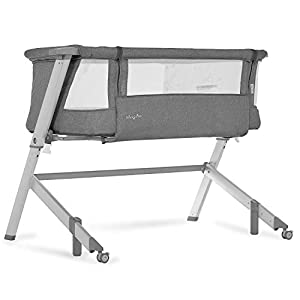 Dream On Me Skylar Bassinet & Bedside Sleeper, Grey Crib