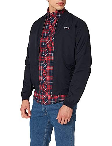 Schott NYC Men's Blouson Bomber Coton Jackets, Navy, L